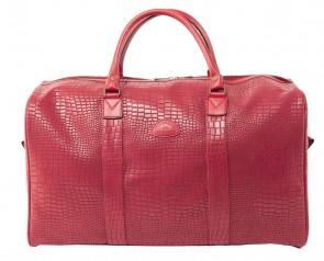 sac de voyage PVC ANGOLA CROCO Brique