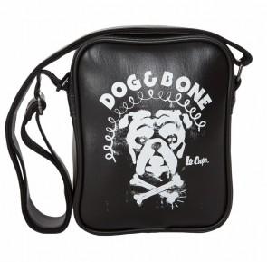 Pochette bandoulière - PVC - noir - motif Dog