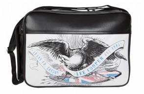 Sac reporter - PVC - noir - motif Eagle