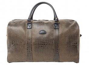 3 - sac de voyage PVC ANGOLA CROCO Marron